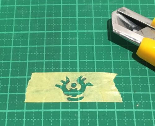 マスキングテープに模様_くりぬき