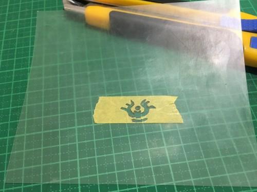 マスキングテープに模様_くりぬきクリアファイル
